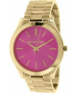 Michael Kors  Runway Pink Dial Gold Tone Ladies Watch MK3264 New With Tags - $148.50