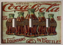 5 Cents Coke Bottles Old Poster Light Switch Outlet Wall Cover Plate Home Decor image 13