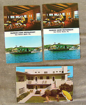 Three VTG Florida Postcards Harbor Light Fort Walton  - $8.31