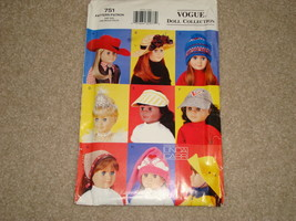 Vogue Pattern Craft 751 Doll hats Un-Cut Pre-owned - $8.00