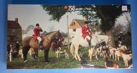 "BNIB Vintage JUMBO Jigsaw Puzzle English Horse Countryside ""Drag Hunt"" 7... - $34.64"