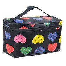 2 Pcs Attractive Heart Shape Large Capacity Cosmetic Storage Bag
