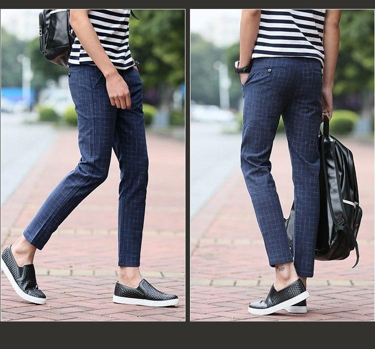2018 spring tracksuit pants man casual narrowed pants men slim fit straight men