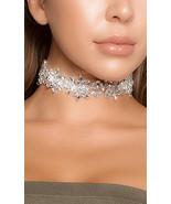 Forplay Rhinestone Bloom Flower Choker Fashion Jewelry 996509 - $26.99