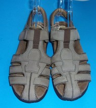 Womens Size 11 TAN Earth Spirit Leather Sandals Shoes   - $12.00
