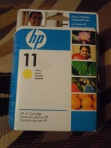 NEW! Factory Sealed! HP 11 Yellow Ink Cartridge exp 06/2009 - $8.56