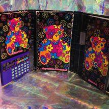 GREAT Vintage Lisa Frank Blossom Bear Tri Fold Agenda COMPLETE STICKERS image 3