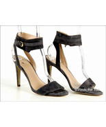 J Crew Women's Suede Ankle-Cuff Sandals Heels Open Toe Pumps 7 A5285 Gray - $45.99