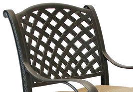 Patio bar stools Set of 4 Outdoor Furniture Nassau Swivel Cast Aluminum Bronze image 7