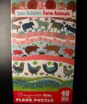 Pomegranate Kids Jigsaw Puzzle 2016 Jane Robbins Farm Animals 48 Really ... - $14.99