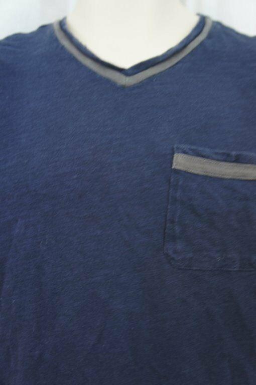 Alfani RED Mens T Shirt Sz S Neo Navy Blue Short Sleeve V Neck Pocket Tee