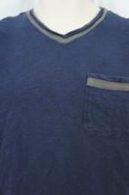Alfani RED Mens T Shirt Sz S Neo Navy Blue Short Sleeve V Neck Pocket Tee   - $12.09