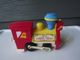 Vintage Fisher Price Little People Pull Toy Circus Train Engine #991 - $20.47