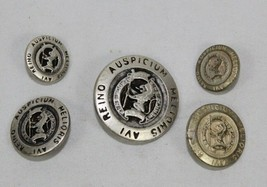 Lot 5 Antique Military AVI REINO AUSPICIUM MELIORIS Metal Jacket Coat Bu... - $22.71