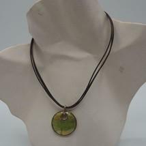 Monet Silver Tone Enamel Pendant Necklace - $9.89