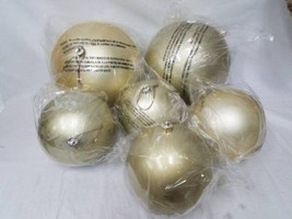 New Pottery Barn Oversized Large Outdoor Gold Ball Ornaments - Set Of 6 - $69.99