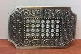 "Vintage Jewelry: 3 1/4"" Rhinestone Belt Buckle 01-01-2019 - $9.89"