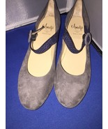 Rangoni by Amalfi Erede Wedge Pump ~ Gray Chacoal with Navy Blue Size 7.5 - $39.95