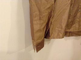 Worthington Women's Petite Size 10 10P Shirt Silk Button Down Top Brown Striped image 5