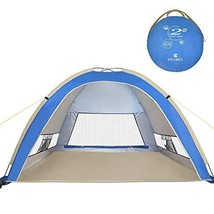 G4Free Large Pop Up Beach Tent Camping Sun Shelter Portable Sun Tents Ou... - $51.74