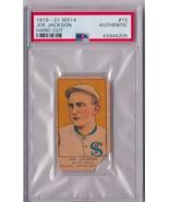 1919 - 1921 W514 Joe Jackson Hand Cut #15 PSA Authentic Black Sox Year P582 - $2,887.36