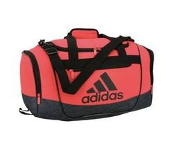 BLACK/SHOCK RED adidas Defender III Small Duffle Bag (D) - $148.49
