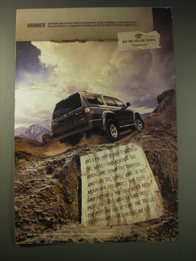 2001 Toyota 4Runner Ad - Over the River and through the woods - $14.99