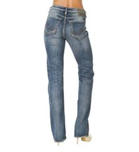 SILVER Jeans Sale Buckle Frisco High Waisted Rise Straight Stretch Jeans... - $28.02