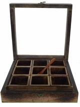 Big size 9 Rack Spice Box Container Tea bag holder Utility Size -10.6x10... - £47.02 GBP