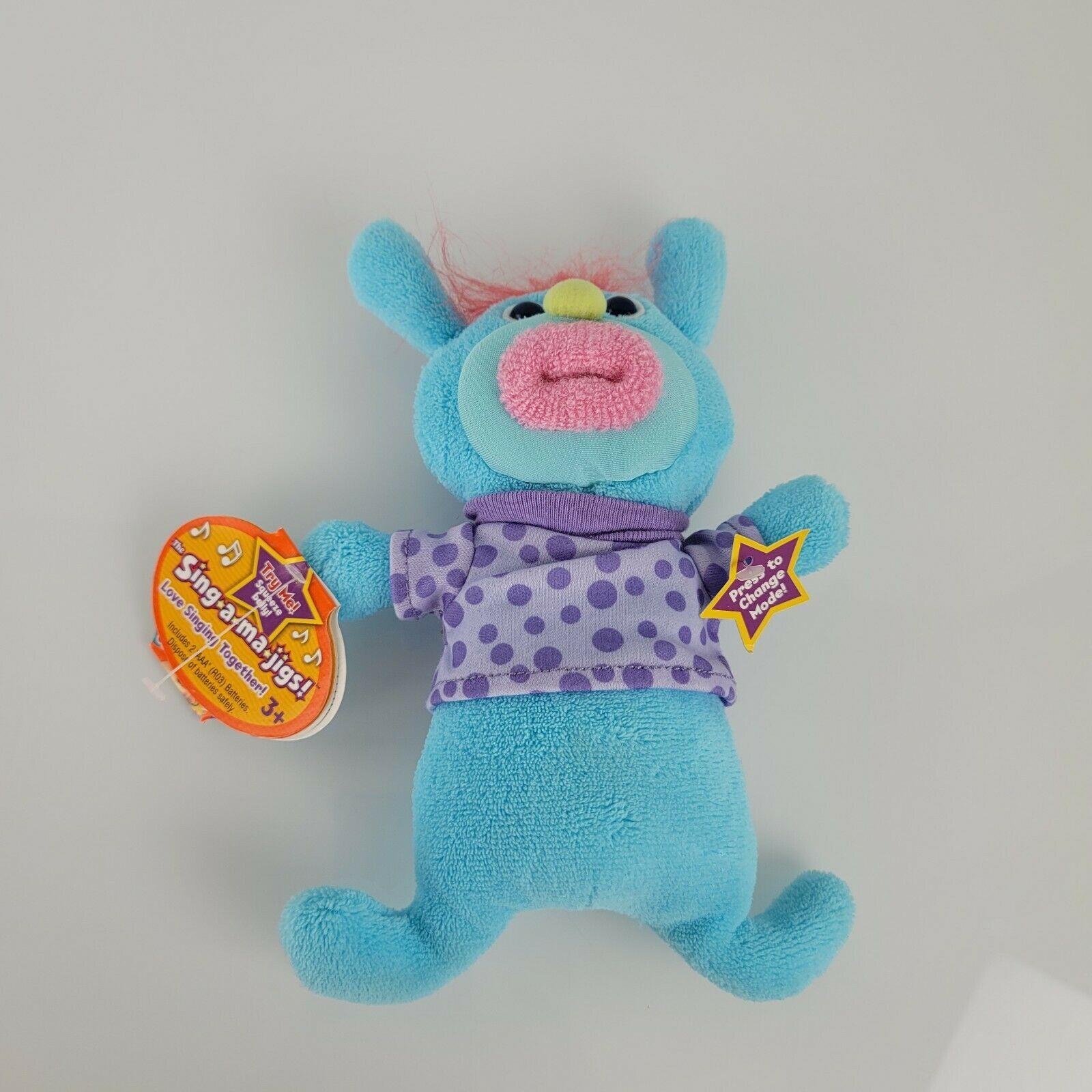Blue Purple Pink Fisher Price Sing a Majig Majigs Singamajigs Plush Jolly Fellow - $32.66