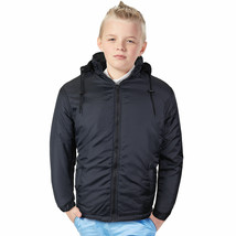 Nathan Boy's Kids Junior Water Resistant Fleece Lined Jacket With Removable Hood image 1
