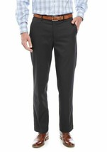 Greg Norman ~ P5FA10 ~ Slim Fit/Flat Front Pants ~ Charcoal Tic  ~ Men's... - $31.68