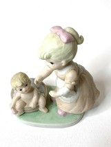 Homco Home Interiors Figurine #1450 Bath Time Mom and Baby - $11.28