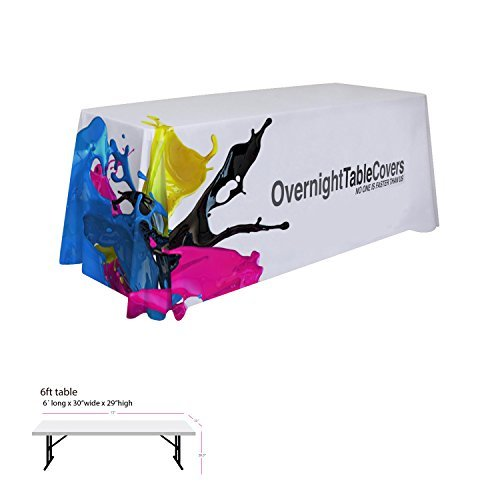 Table Throw Cover 6Ft 4 Sided - Custom Full Color Dye Sublimation