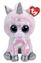"Ty Flippables Beanie Boos 6"" DIAMOND the Unicorn White Pearl MWMT in hand - $19.79"