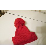 Vintage Marceau Sports Red Wool Hat Stocking cap Ski Snowboarding Pom Po... - $20.00