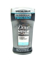 Dove Men+Care Deodorant Stick, Clean Comfort, 3 Oz ( Pack Of 2 ) Antiper... - $27.95
