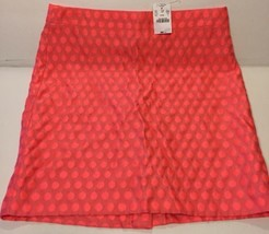 J Crew S 4 Orange The Pencil Skirt Career Cocktail Casual Polyester Viscose - $21.99