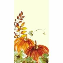Watercolor Fall Pumpkin 16 Ct Guest Napkins - $4.35