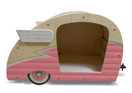 Retro Shasta Camper Dog Bed (Bubble Gum Pink) - $299.00