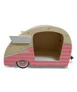 Retro Shasta Camper Dog Bed (Bubble Gum Pink) - $299.00