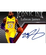 Lebron James Iconic Ink fascimile autograph card Los Angeles Lakers Mint - $5.94