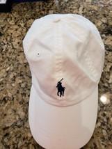 POLO RALPH LAUREN MEN'S CLASSIC WHITE BALL CAP HAT NAVY LOGO ADJUST OSFA... - $24.99