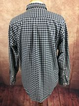 American Eagle Outfitters Men's Rugged Oxford Navy Blue White Check Shirt Large image 5