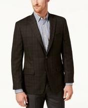 Michael Kors Men's Classic-Fit Brown/Red Plaid Sport Coat, Size 40 Reg, $350 - $79.93