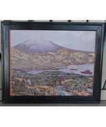 Nice Framed Textile Artwork, VERY GOOD CONDITION - $19.79