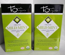 Touch Organic Mild Mint Green Tea Bags 48 bags 2 BOXES total of 24 Tea b... - $11.61
