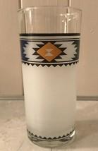 Noritake KACHINA 12 Oz Tumbler Frosted Glass Southwest Aztec - $19.95