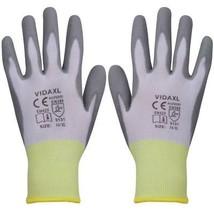 vidaXL 24 Pairs PU Palm Coated Work Gloves Super Comfort Size 10/XL Gray... - $22.99