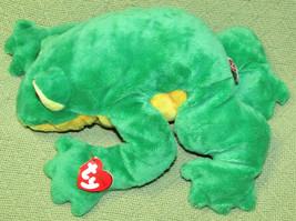 "16"" Ty BAYOU FROG Beanie Buddies ROLLER RATTLE 2003 Plush Stuffed Animal... - $23.38"